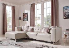 Divani Casa Carolina Modern Leatherette & Fabric Sectional Sofa