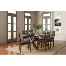 Alston Rustic Trestle Five-piece Dining Set