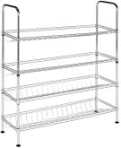Lidia Chrome Wire Adjustable Shoe Rack - Chrome Product Image