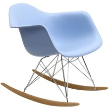 Rocker Plastic Lounge Chair in Blue