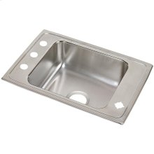 "Elkay Lustertone Classic Stainless Steel 25"" x 17"" x 6-1/2"", Single Bowl Drop-in Classroom ADA Sink"
