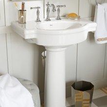 Retrospect 27-inch Pedestal Sink - White
