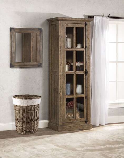 Tuscan Retreat® Tall Single Door Cabinet - Aged Gray & 58451064W in by Hillsdale Furniture in Lancaster PA - Tuscan ...