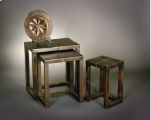 Stitched Faux Leather Nesting Tables
