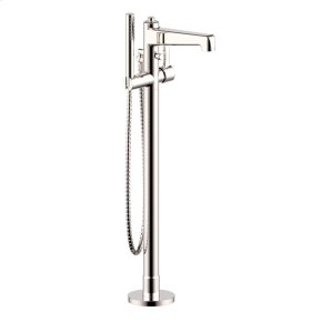 Polished Nickel Wallace (Series 15) Single Supply Floor Tub-Filler