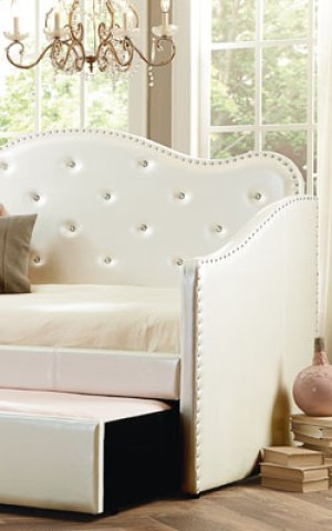 Uph White Daybed Back Panel, 3/3