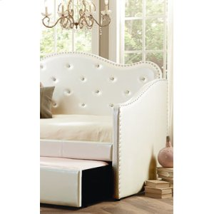 Uph White Trundle, W/slats & Legs,3/3