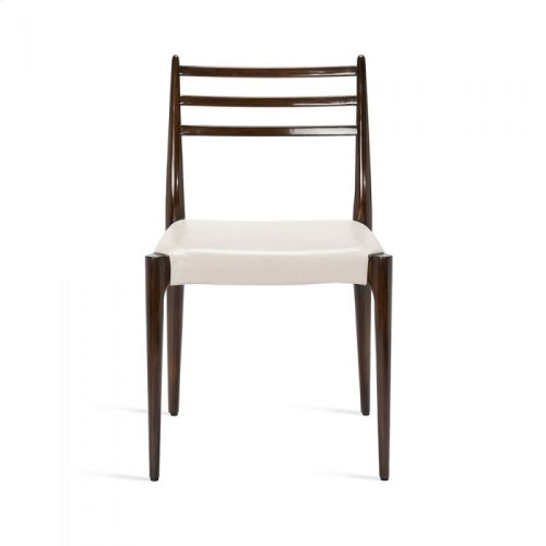 Beckham Side Chair - Walnut/ Cream