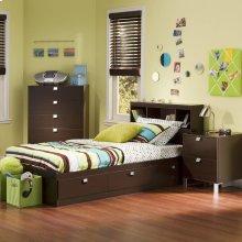 3-Piece Kids Bedroom Set - Chocolate