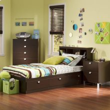 3-Piece Kids Bedroom Set - Chocolate
