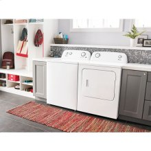 3.5 cu. ft. Top-Load Washer with Dual Action Agitator - white / AMN 6.5 cu. ft. Dryer with Wrinkle Prevent Option - white