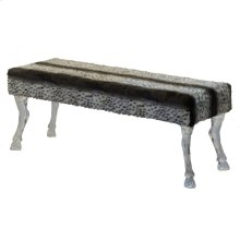 Faux Fur Bench