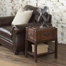 Latitudes - Suitcase Chairside Table - Aged Cognac Finish