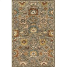 Taupe / Blue Rug