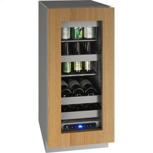 """U-Line 5 Class 15"""" Beverage Center With Integrated Frame Finish And Field Reversible Door Swing (115 Volts / 60 Hz)"""