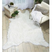 Fur Fl100 White 5' X 7' Throw Blanket