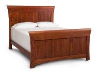 Loft II Panel Bed, Cherry #28 Bourbon, Loft II Panel Bed, Queen, Cherry Product Image