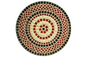 "Stellarton 24"" Round Bistro Table Ceramic Table Top and Iron Base"