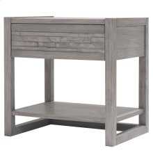 Callisto Night Stand/Side Table, Weathered Gray