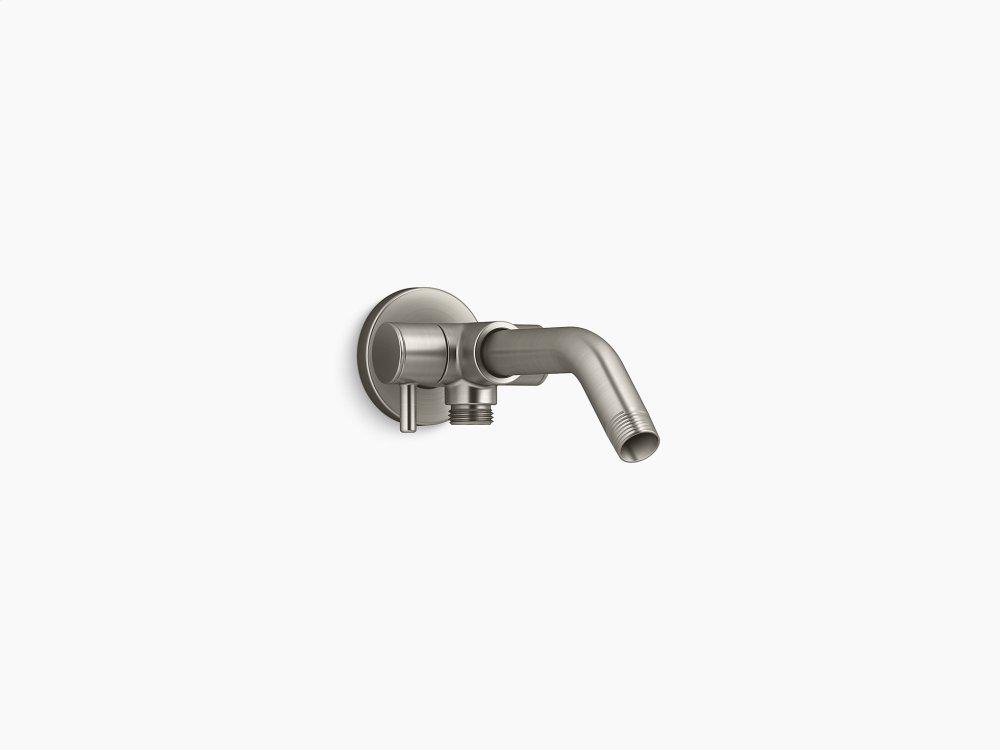 Vibrant Brushed Nickel Shower Arm With 2 Way Diverter