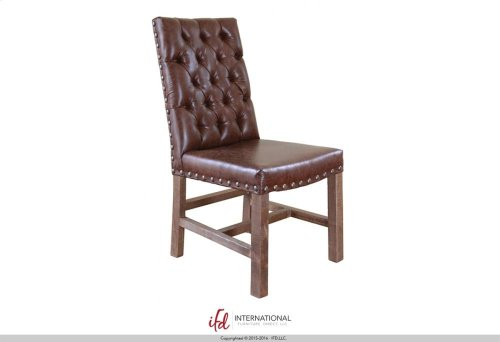 Faux leather Chair with tufted back**