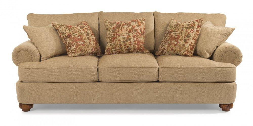 Flexsteel Patterson Fabric Sofa Without Nailhead Trim