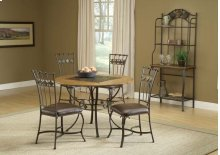 Lakeview 5pc Round Dining Set With Slate Chairs
