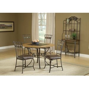 Hillsdale FurnitureLakeview 5pc Round Dining Set With Slate Chairs