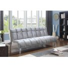 Contemporary Silver and Chrome Sofa Bed Product Image