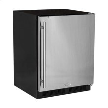 """Marvel 24"""" ADA Height All Refrigerator - Solid Stainless Steel Door - Left Hinge"""