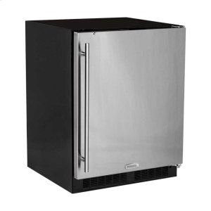 "MarvelMarvel 24"" ADA Height All Refrigerator - Solid Stainless Steel Door - Right Hinge"