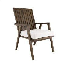 Teak Garden Patio Chair Cushion In White