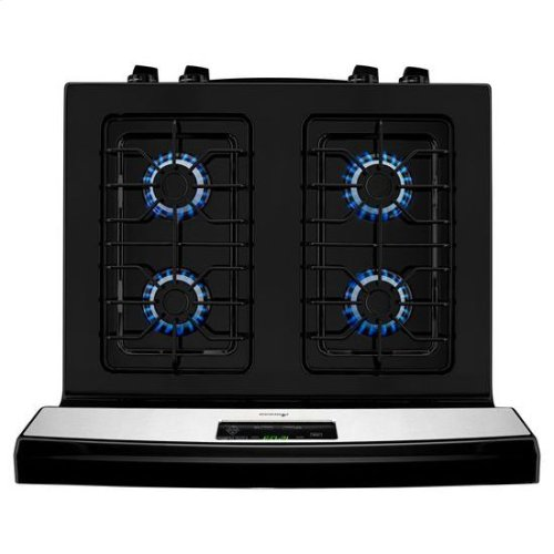 30-inch Gas Range with Easy Touch Electronic Controls - white