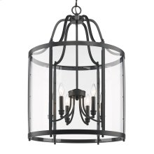 Payton 6 Light Pendant in Black with Clear Glass