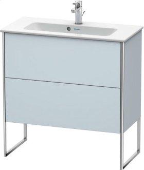 Vanity Unit Floorstanding Compact, Light Blue Satin Matt Lacquer