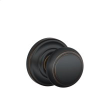 Andover Knob with Andover trim Non-turning Lock - Aged Bronze