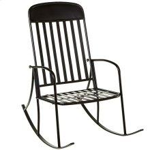 Distressed Black Rocking Chair.