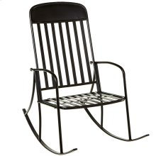Distressed Black Rocking Chair.