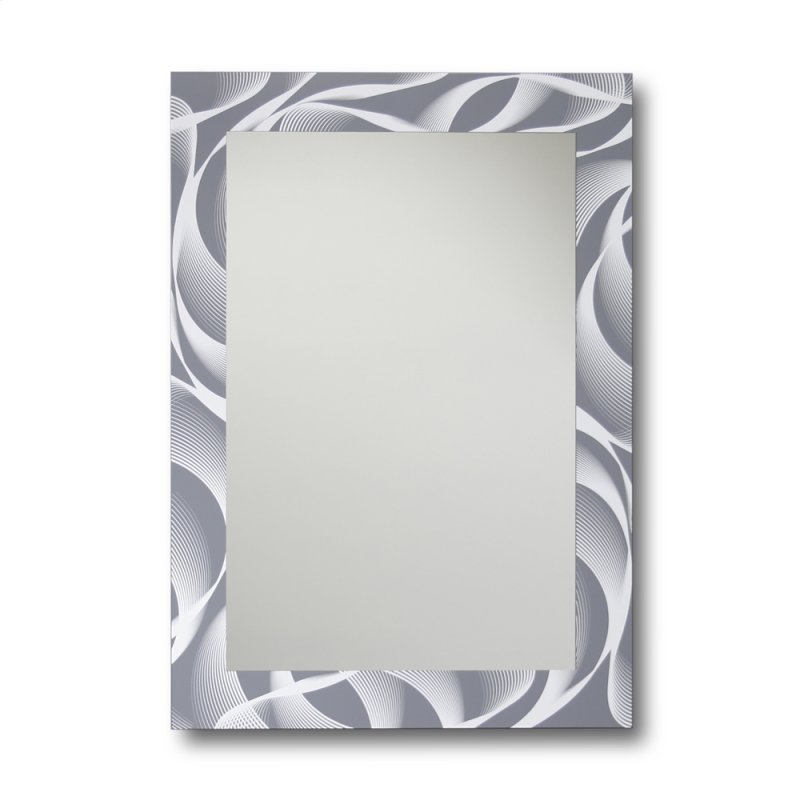 Gray And White Swirl 18 X 24 Decorative Wall Mirror