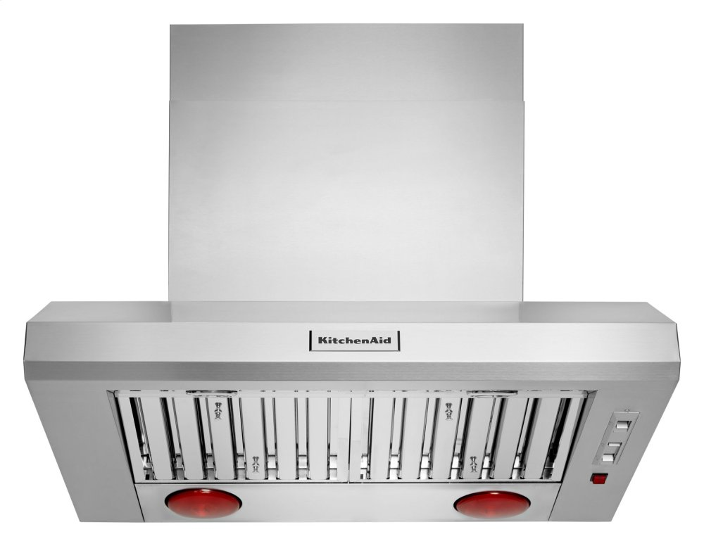 """Kitchenaid36"""" 585-1170 Cfm Motor Class Commercial-Style Wall-Mount Canopy Range Hood - Stainless Steel"""