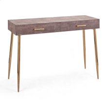 Dusty Rose Stainless Steel Console Table