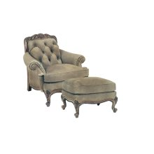 Renoir Tufted Chair and Ottoman
