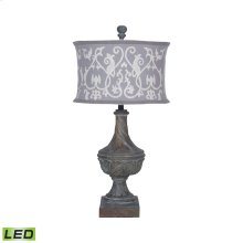 Carved Madison LED Table Lamp In Champagne Gold
