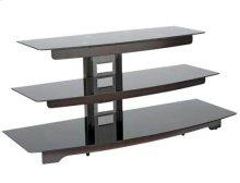 AV Stand With Waterfall Design for Custom AV Setups - Chocolate