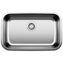 Blanco Stellar® Ada Single Bowl - Stainless Steel Refined Brushed Finish