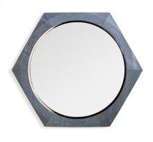 Laurel Shagreen Mirror - Grey