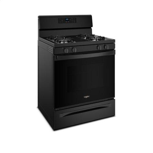 Whirlpool® 5.0 cu. ft. Freestanding Gas Range with Adjustable Self-Cleaning - Black