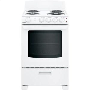 "HotpointHotpoint® 24"" Free-Standing Front-Control Electric Range"