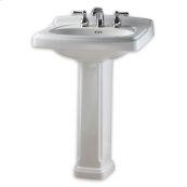 Portsmouth 24 Inch Pedestal Sink - White