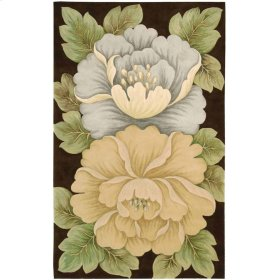 Tropics Ts09 Brn Rectangle Rug 5'3'' X 8'3''